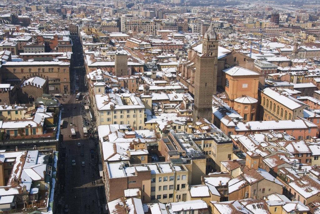View of Bologna from the top of the Campanile