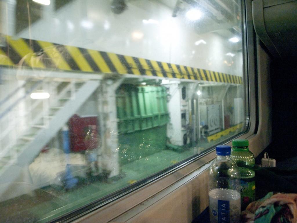 Train in boat