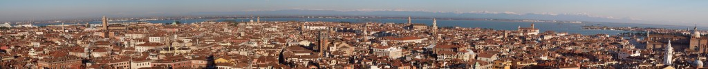 View from summit of Campanile (Piazza San Marco) of Venice
