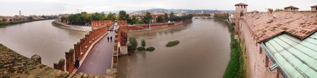 View over Verona from Museo di Castevecchio