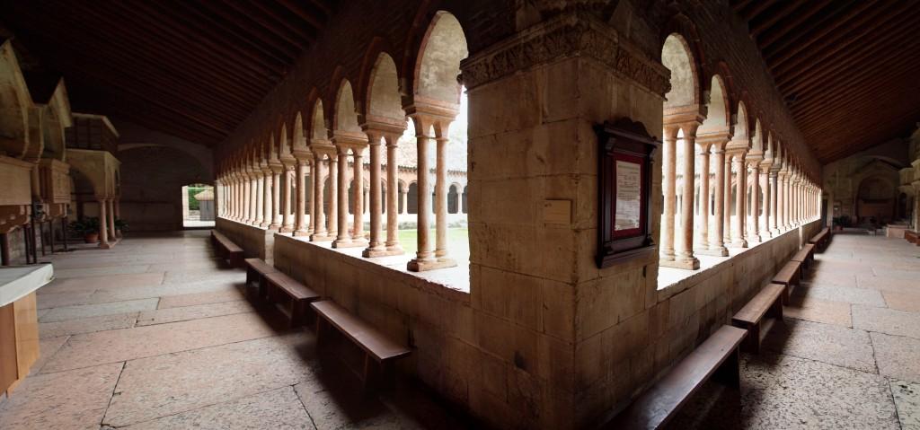Cloister of San Zeno Maggiore in Verona
