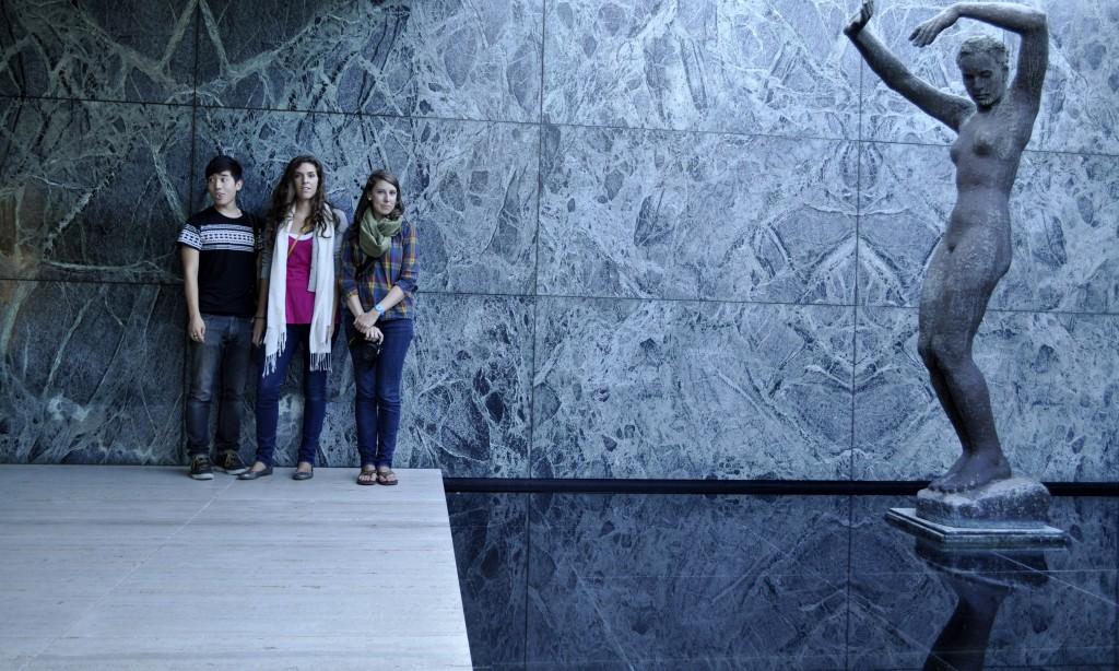 Taek, Anjelica, and Walker by Alba sculpture by Georg Kolbe