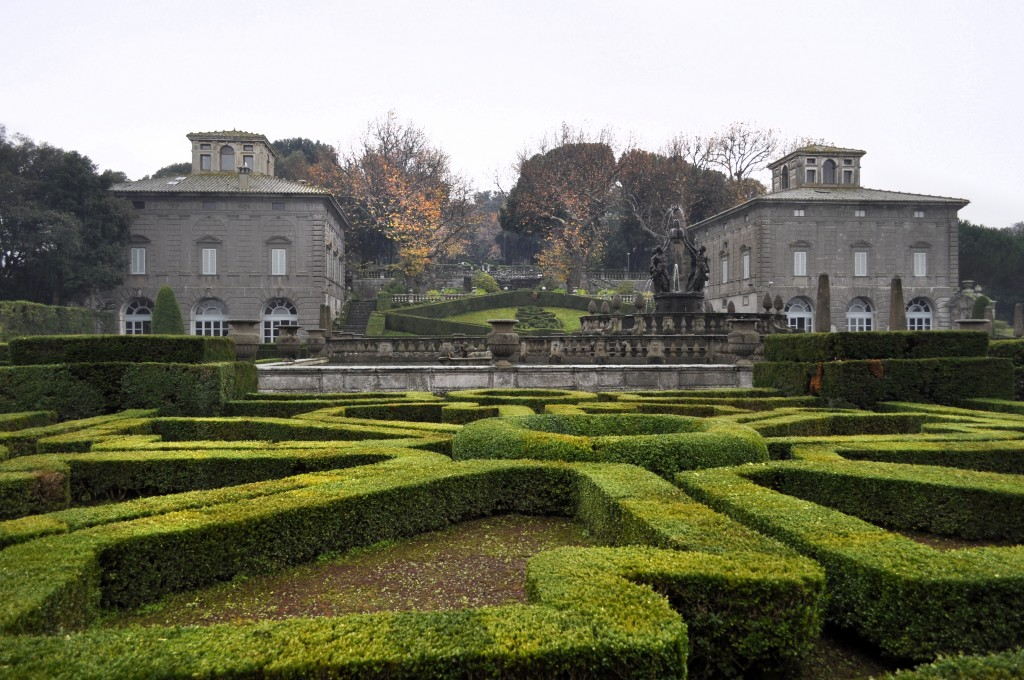 View of the Two Pavilions from the Garden