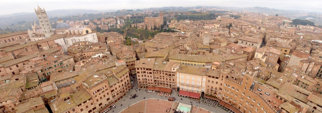 Siena: View from Torre del Mangia, Duomo on left