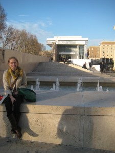 In front of Richard Meier's Controversial Ara Pacis Museum