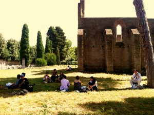 Our class picnic in Via Appia Antica