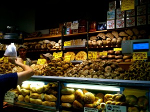 The bread and pastry section in Antico Forno Roscioli. Right next to the pizza :)