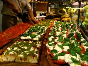 Caprese Pizza from Antico Forno Roscioli- which is apparently one of the best places to get pizza in the city center.