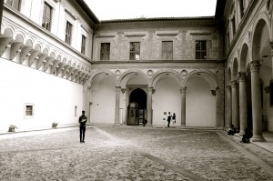 Vinny at the Ducal Palace in Gubbio