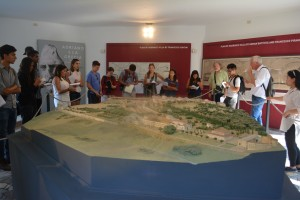 Our class views an on-site scale model of Hadrian's Villa.