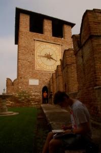 Stefan at the Castelvecchio in Venice