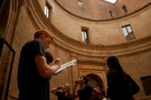 Tim at the Casa del Mantegna in Montova