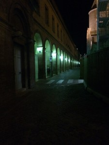 iPhone night photo of the alley that leads to our hotel- the same one in the first photograph of this post.