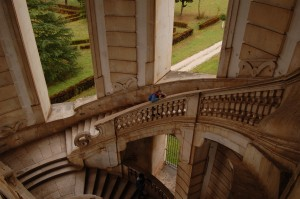 Todd overlooking the same staircase