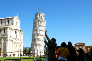 Classic tourist shot of me holding up the tower :)