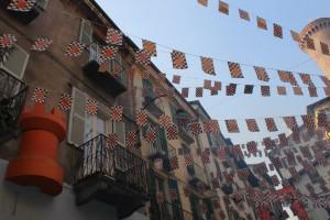 Ivrea prepares for its orange throwing festival. Photo: Kyra Spotte-Smith.