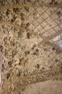 Ceiling detail at Villa d'Este showing pumice stone decorations. Photo: Melody Stein