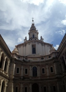 Sant'Ivo, a famous church we studied in the Renaissance and Baroque Architecture History course.
