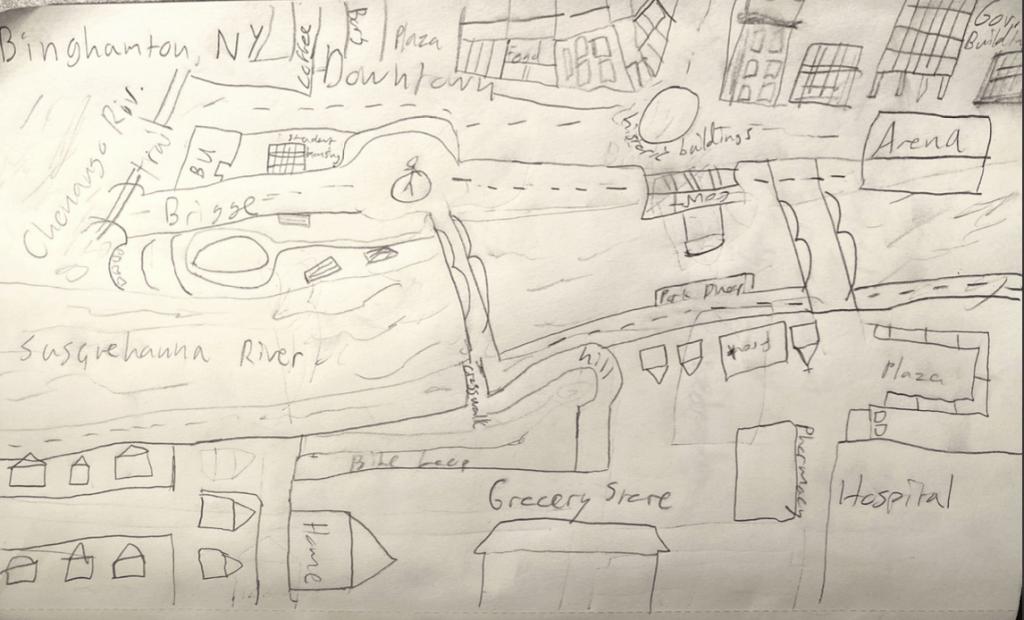 Lynch Map of my home, Binghamton, NY