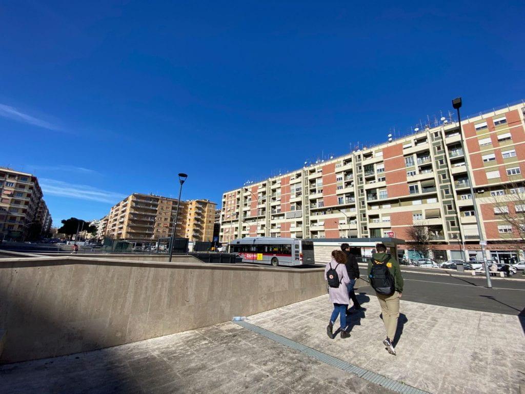 Malatesta Station, a major transit hub, renovated in 2015, in Prenestino