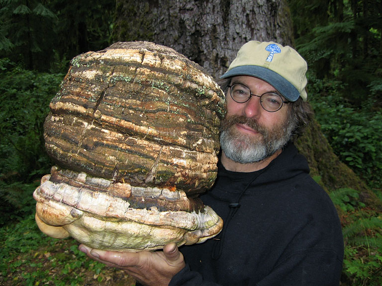 Mycologist Paul Stamets with big Agarikon