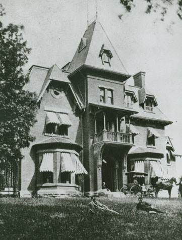 AD White House in 1880. Click for a 2012 view.