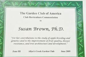 Garden Club Award