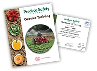 Grower Training manual and Certificate