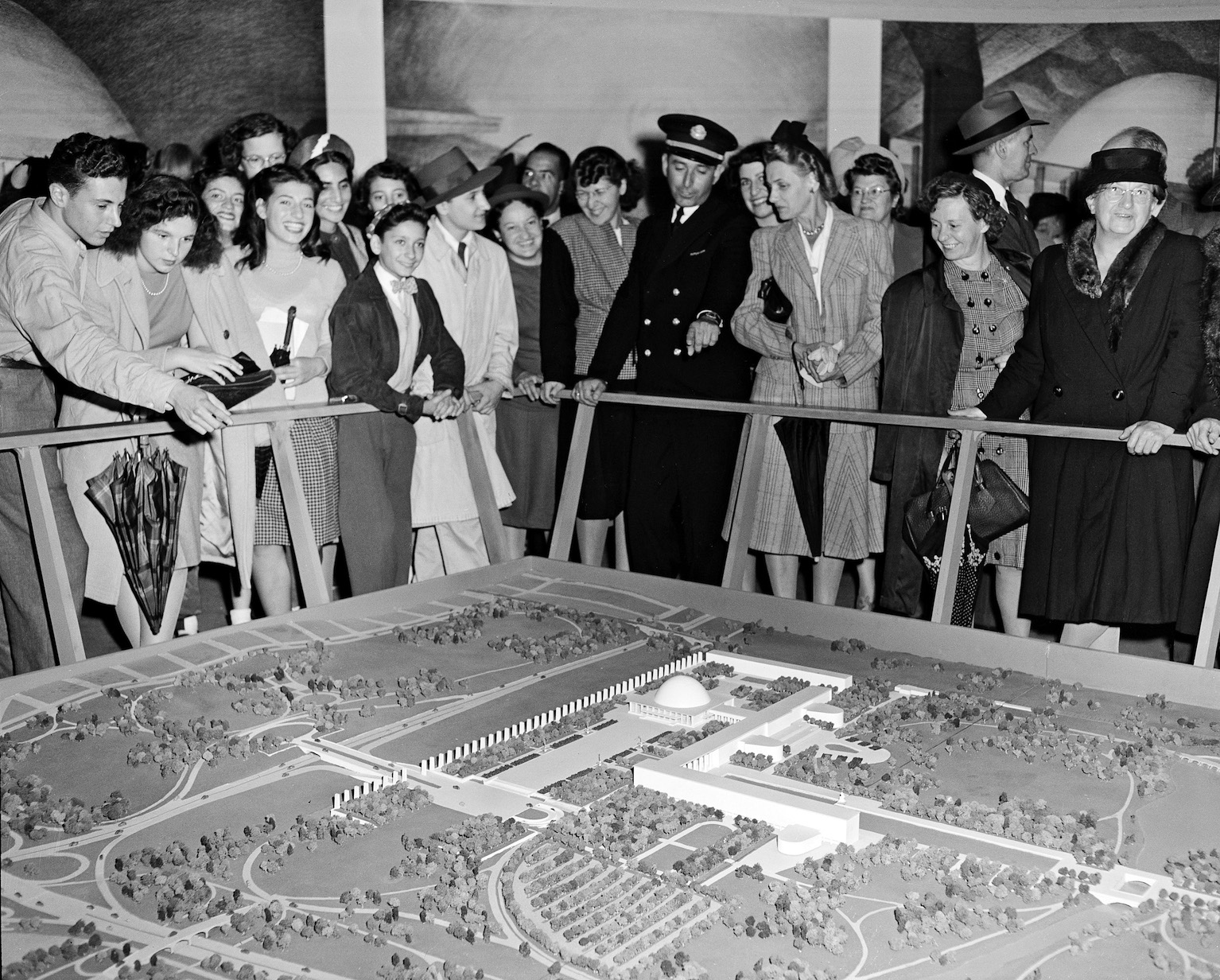 MODEL OF UN FLUSHING COMPLEX, 1946 - UN ARCHIVES