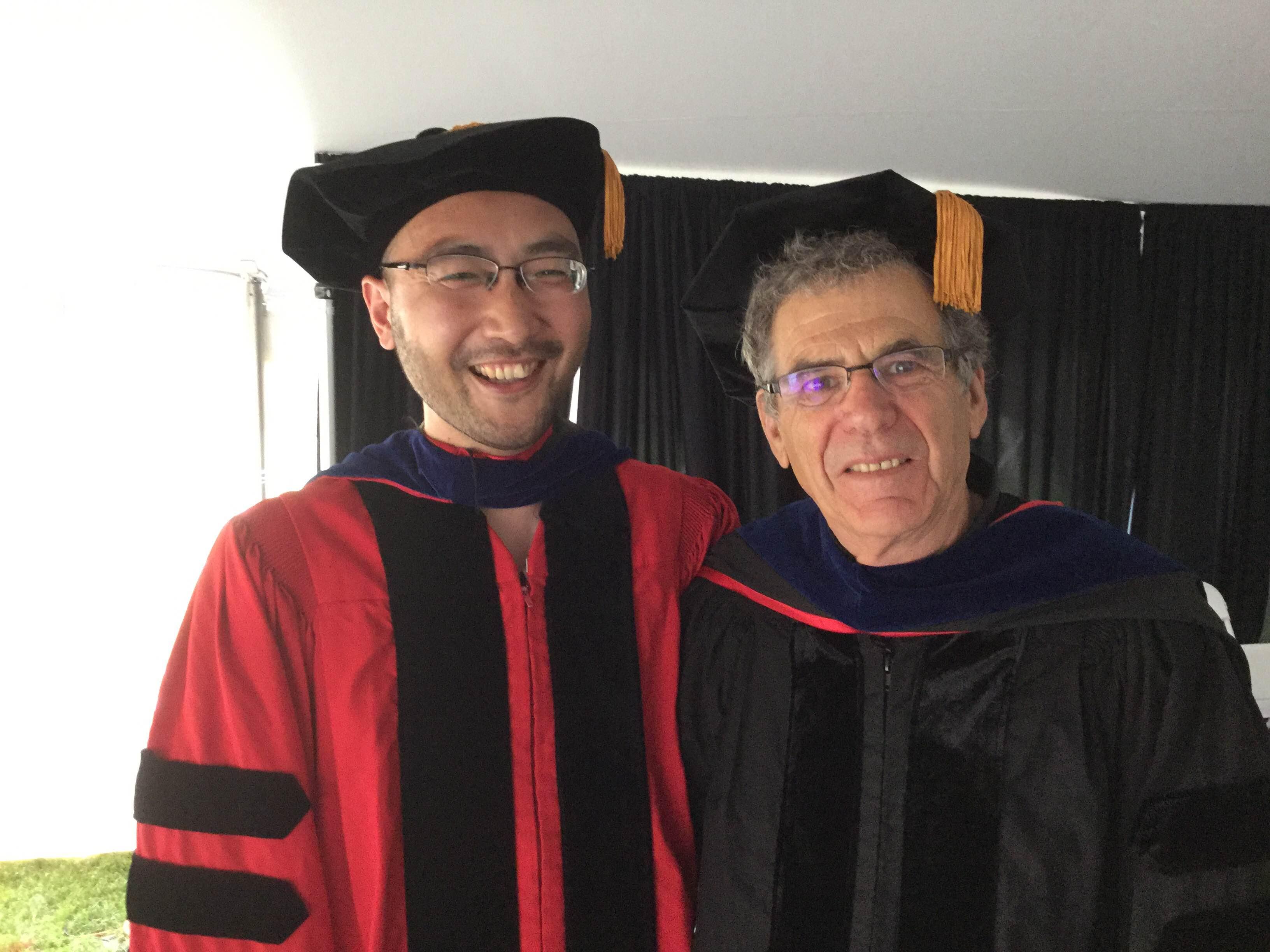 Congratulating a prof when students graduate?