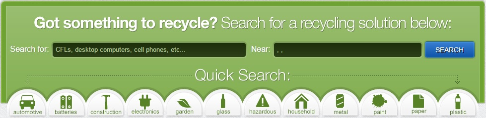 recycling earth 911 search pic