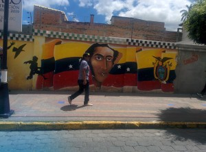 Simon Bolivar - Graffiti in Otavalo