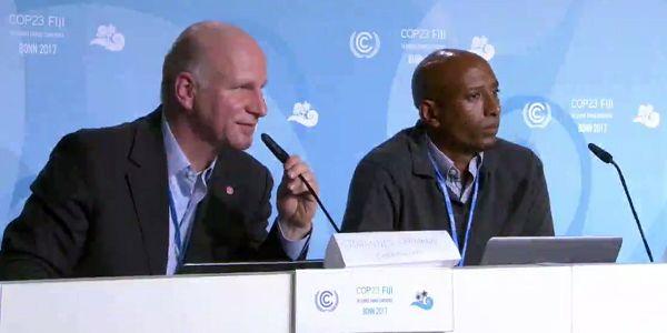 Johannes Lehmann & Dawit Solomon give COP23 Press Conference