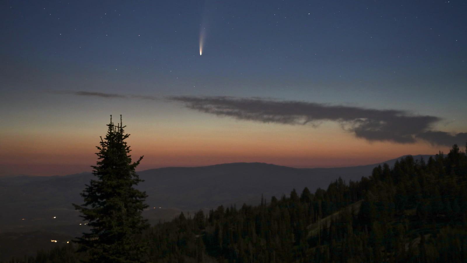 Comet over Deer Valley, Utah 2020