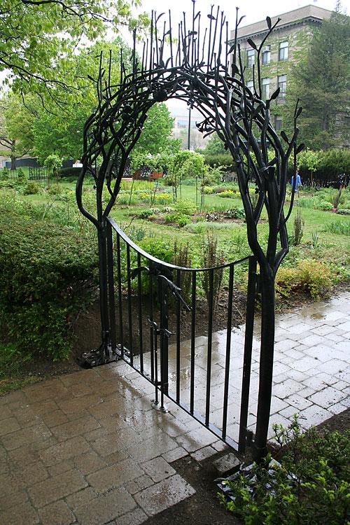 New gate at Minns Garden