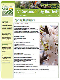 NY Sustainable Ag Quarterly