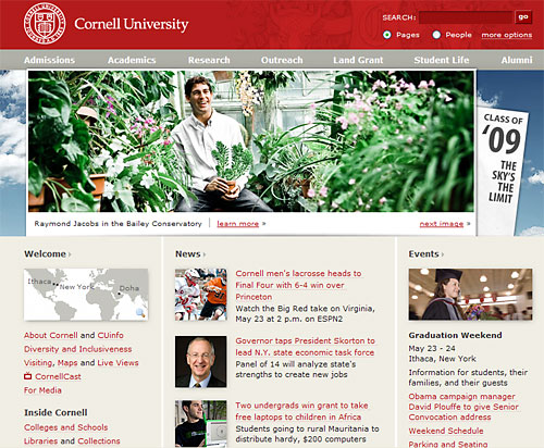 Raymond Jacobs on the Cornell University homepage