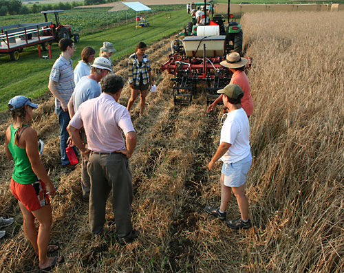 Zone tillage demo at Freeville organic twilight tour.