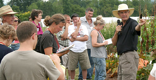 Allan Armitage leads perennial plant walkabout.