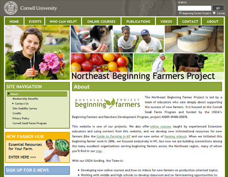 Northeast Beginning Farmer website