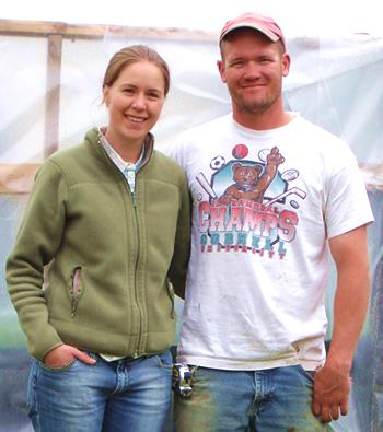 Maggie & Jamie Edelstein, owners of Wyllie Fox Farm