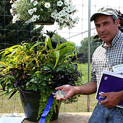 Matt Zema, Zema Nurseries, won the 16-inch pot division in the 8th Kathy Pufahl Container Contest