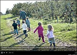 Nursery school visits Cornell Orchards
