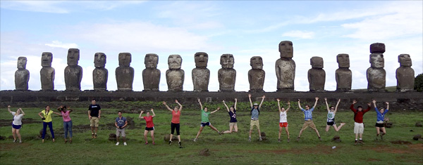 HORT 4940 students on Easter Island