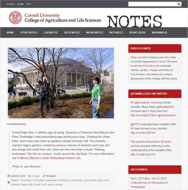 New blog: CALS Notes