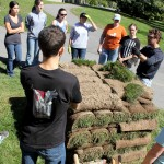 Turf specialist Frank Rossi gives a lesson on the science of sod.