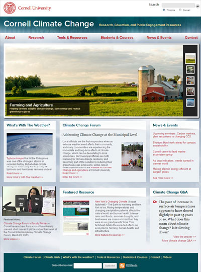 Cornell Climate Change homepage