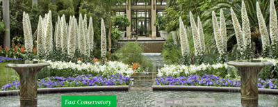 East Conservatory at Longwood Gardens in spring. (Longwood Gardens photo.)