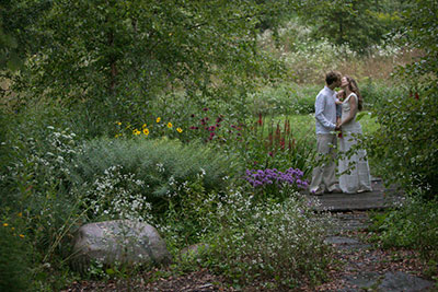 Violet Stone and Joshua Pezet wed at Cornell Plantations F.R. Newman Arboretum.
