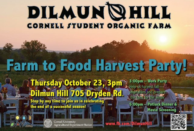 dilmun hill harvest party flyer